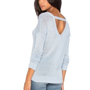 Feel the Piece Terre Jacobs Open Back Sweater OS S